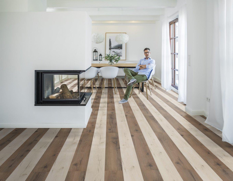 Panele laminowane z kolekcji wineo 500 medium V4 w dekorze dębu