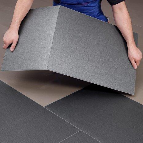 wineo Designboden Verlegetechnik zurecht schneiden zum Verlegen von Boden