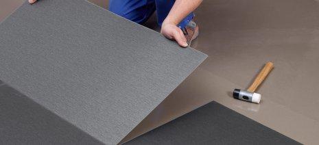 wineo Designboden Verlegetechnik Boden wird verlegt Handwerker