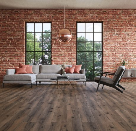 wineo 500 Laminatboden Wohnzimmer Strong Oak Darkbrown LA177LV4