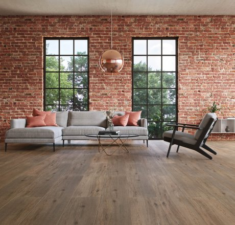 wineo 500 Laminatboden Wohnzimmer Wild Oak Darkbrown LA187XXLV4