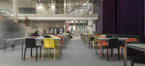 wineo PURLINE Bioboden Universität Stühle Tische